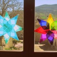 Preparando la primavera (II):  Estrellas de primavera DIY